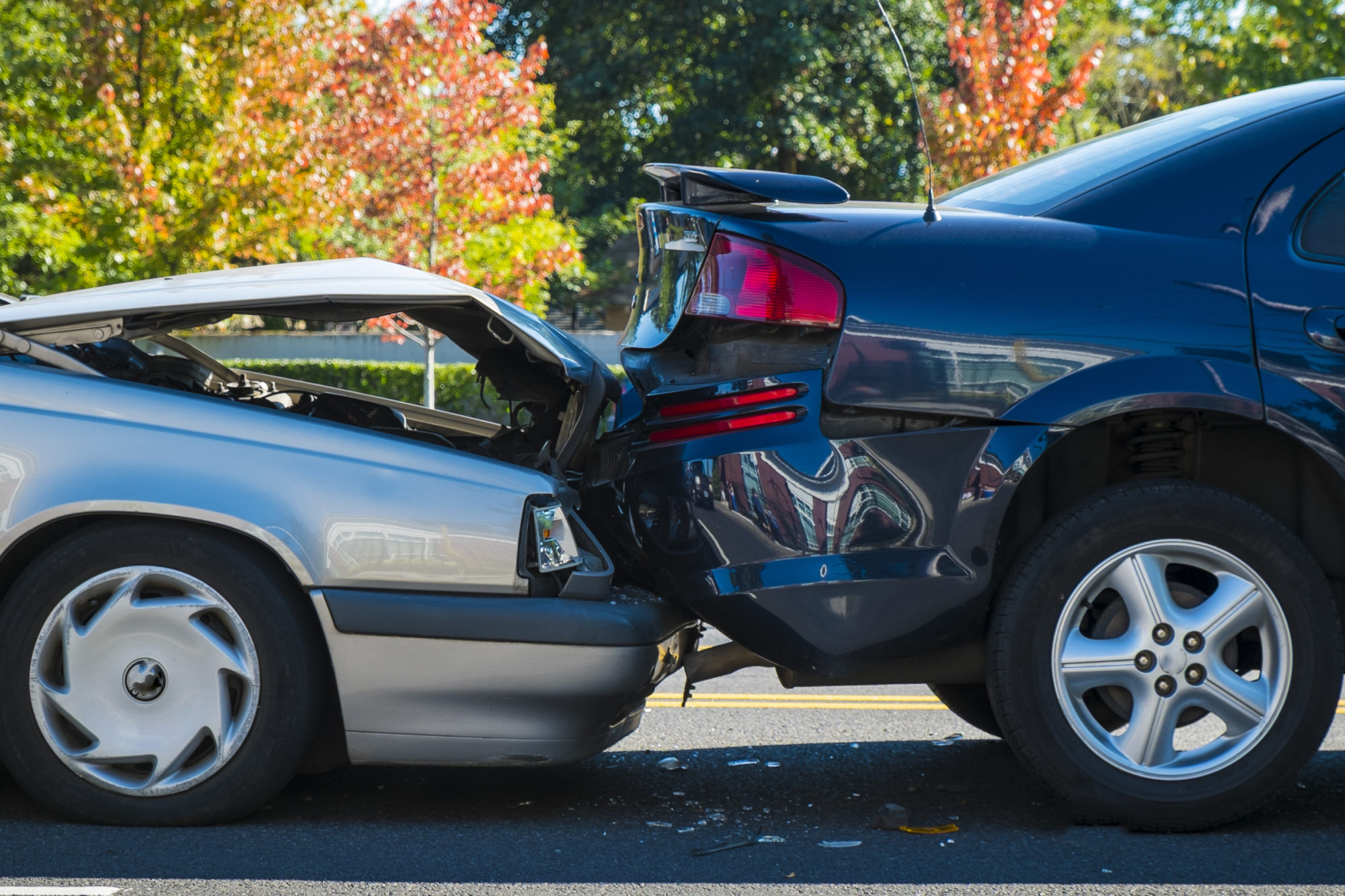 Auto accident involving two cars needing a car accident attorney