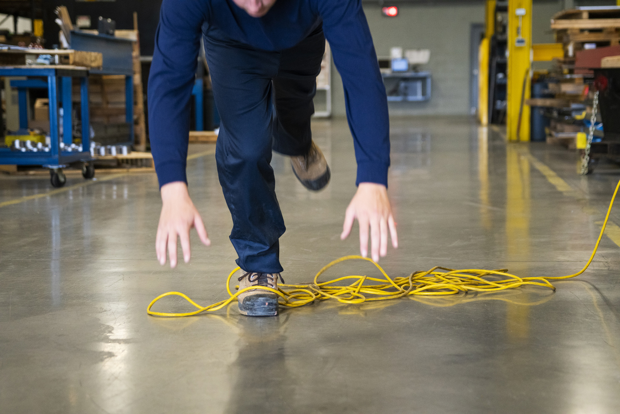 worker tripping over a electrical cord and needs a slip and fall accident lawyer